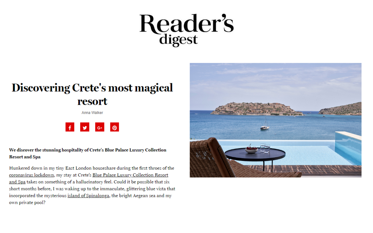 Crete's Most Magical Resort Review By Anna Walker In Reader's Digest