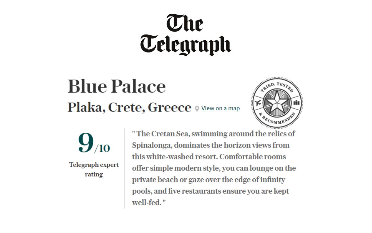Blue Palace Review By Ben Parker In The Telegraph