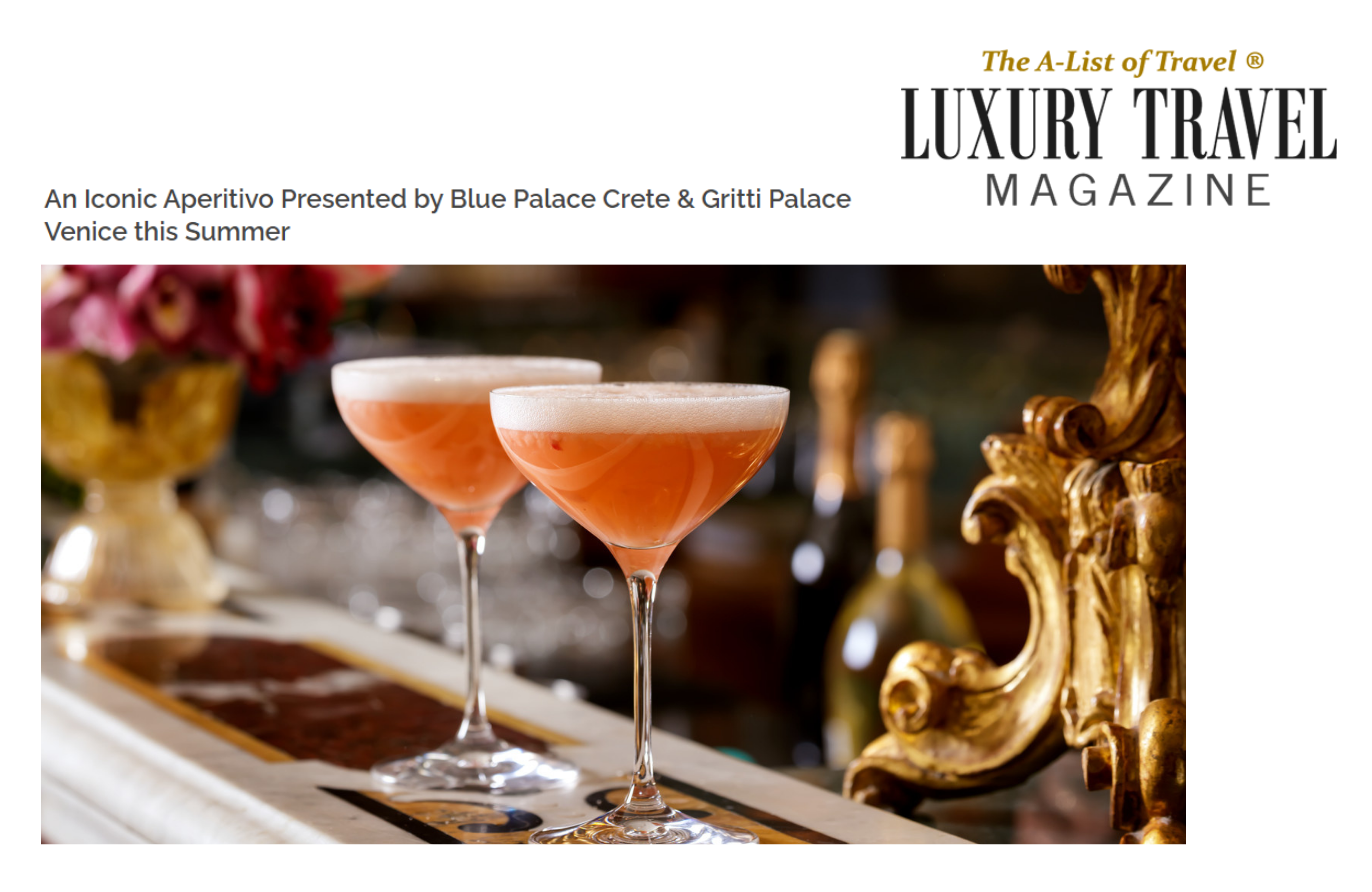 Blue Palace X Gritti Palace Collaboration Announcement By Luxury Travel Magazine